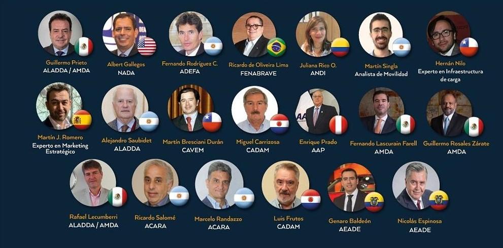 Países participantes en Foro Automotor Latinoamericano